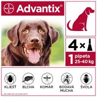 ADVANTIX Spot-on pre psov nad 25 kg (4 pipety) 4x4 ml