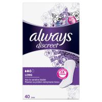 ALWAYS Discreet Inkontinenčné intímne vložky Long 40 ks