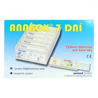 Dávkovač na lieky ANABOX 7 dní modrý
