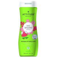 ATTITUDE Little leaves detské telové mydlo a šampón 2 v 1 s vôňou melónu a kokosu 473 ml
