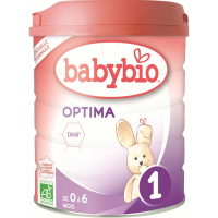 BABYBIO Optima 1 Počiatočné dojčenské mlieko od 0-6 mesiacov BIO 800 g