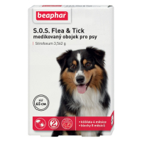 BEAPHAR Antiparazitný obojok pre psa SOS Flea & Tick 65 cm