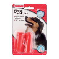BEAPHAR Zubná kefka pre psov na prst