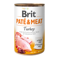 Brit PATÉ & MEAT Turkey konzerva pre psov 400 g