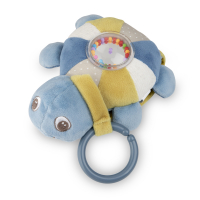 CANPOL BABIES Plyšová svietiaca a hrajúca korytnačka SEA TURTLE modrá