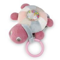 CANPOL BABIES Plyšová svietiaca a hrajúca korytnačka SEA TURTLE ružová