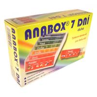 Dávkovač na lieky ANABOX 7 dní dúha
