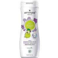 ATTITUDE Little leaves detské telové mydlo a šampón 2 v 1 s vôňou vanilky a hrušky 473 ml
