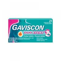 GAVISCON Duo Efekt 24 žuvacích tabliet