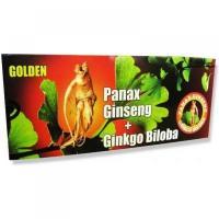 GOLDEN Panax ginseng + ginkgo biloba ampulky 10 x 10 ml