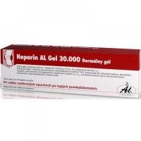 HEPARIN AL masť 30000 ung der 100 g