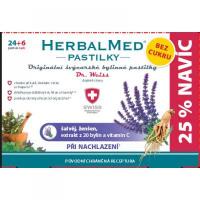 HerbalMed pastilky Dr.Weiss BEZ CUKRU Šalvia, ženšen + vitamín C 24 + 6