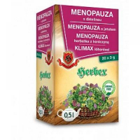 HERBEX čaj menopauza s ďatelinou 3 g x 20 vreciek