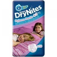HUGGIES DRY NITES nohavičky abs. 4 - 7 rokov / M / girls / 17 - 30 kg / 10 ks