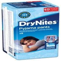 HUGGIES DRY NITES nohavičky absorbčné 8-15 let L/boys/25 - 57 kg/9 ks