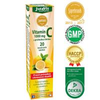 JUTAVIT Vitamín C 1000 mg s príchuťou citróna so sladidlom 20 šumivých tabliet