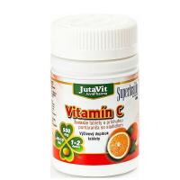 JUTAVIT Vitamín C 500 s príchuťou pomaranča a so sladidlom 60+10 žuvacích tabliet