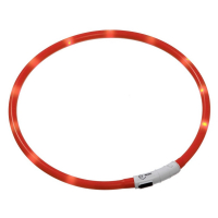 KARLIE FLAMINGO Obojok USB Visio Light 35 cm oranžový