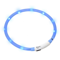 KARLIE FLAMINGO Obojok USB Visio Light 70 cm modrý
