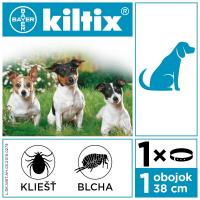 KILTIX Antiparazitárny obojok pre malých psov obvod 38 cm 1 ks
