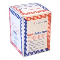 Kompres gáza krabička ster.5x5cm / 25x2 Steriwund