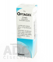 OFTAGEL 2,5 mg/g gel oph 1x10 g (fľ.LDPE)