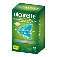 NICORETTE Classic Gum 4 mg 105 liečivých žuvačiek