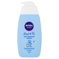 NIVEA Baby šampón a pena do kúpeľa 2v1 500 ml