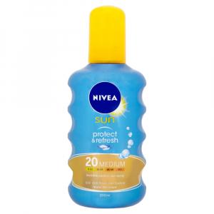 NIVEA SUN Neviditeľný sprej na opaľovanie OF20 200 ml