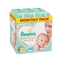 PAMPERS Premium Care Monthly 2 MINI 4-8 kg 240 kusov