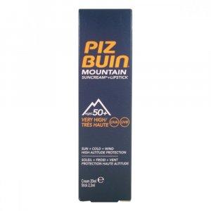 PIZ BUIN Mountain 2v1 opaľovací krém a balzam na pery SPF50 + 22,3 ml