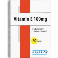 Generica Vitamín E 100 mg 50 kapsúl
